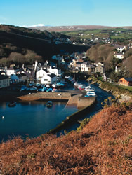 Laxey Harbour and old village